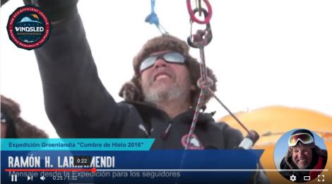 ¡VÍDEO-MENSAJE DE LARRAMENDI DESDE EL TRINEO DE VIENTO!