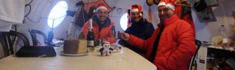 En la Antártida comenzaron 2017 con uvas y un evento del #TrineoDeViento