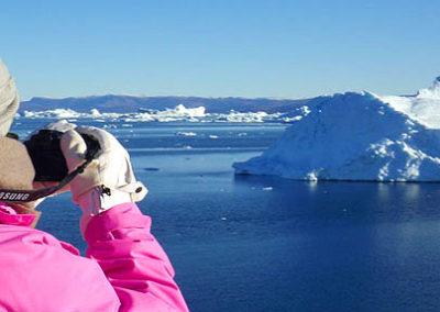 Groenlandia niña fotografia icebergs