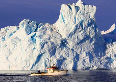 GROENLANDIA ILULISSAT iceberg barco