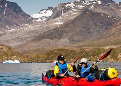Groenlandia viaje kayak y trekking navegación