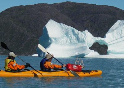 Kayak-groenlandia icebergs Tierras Polares