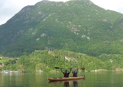 fiordos-noruegos-kayak tierras polares