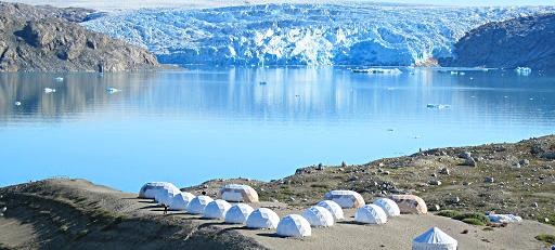 frente glaciar campamento