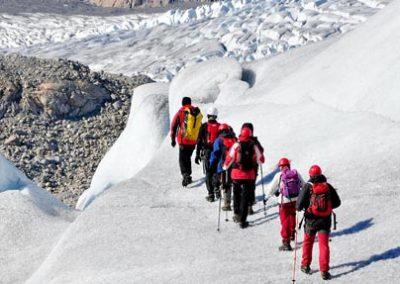 groenlandia trekking hielo glaciar