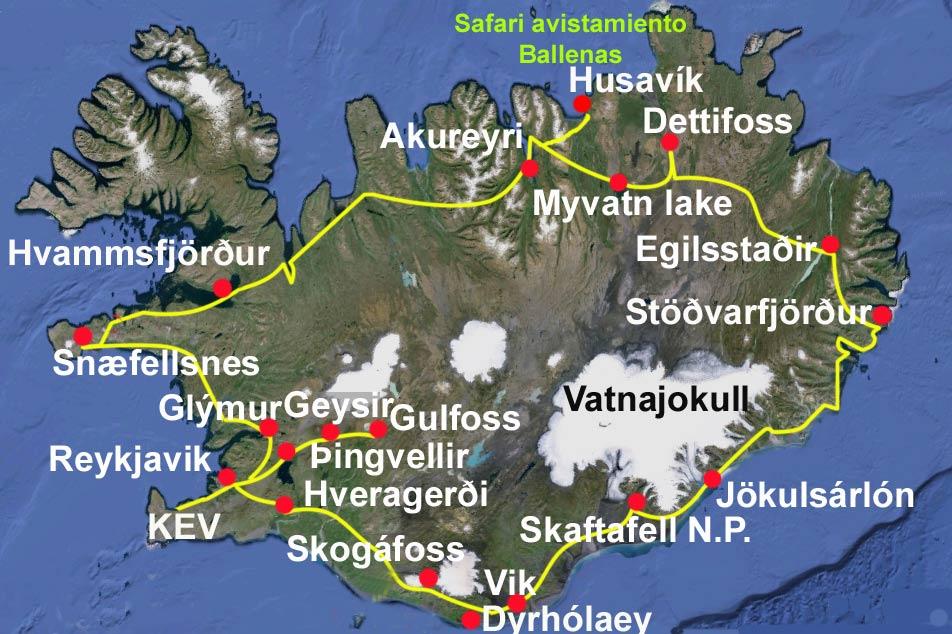 mapa-viaje-vuelta-islandia tierras polares