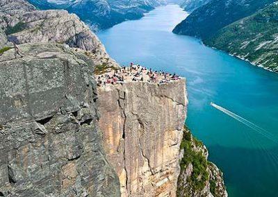 noruega pulpito tierras polares