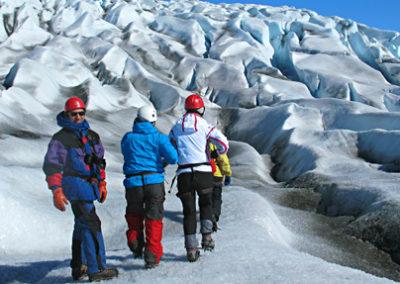 trekking hielo