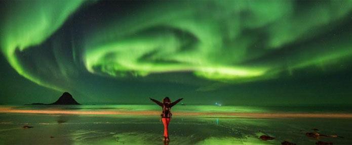 auroras boreales puente del pilar