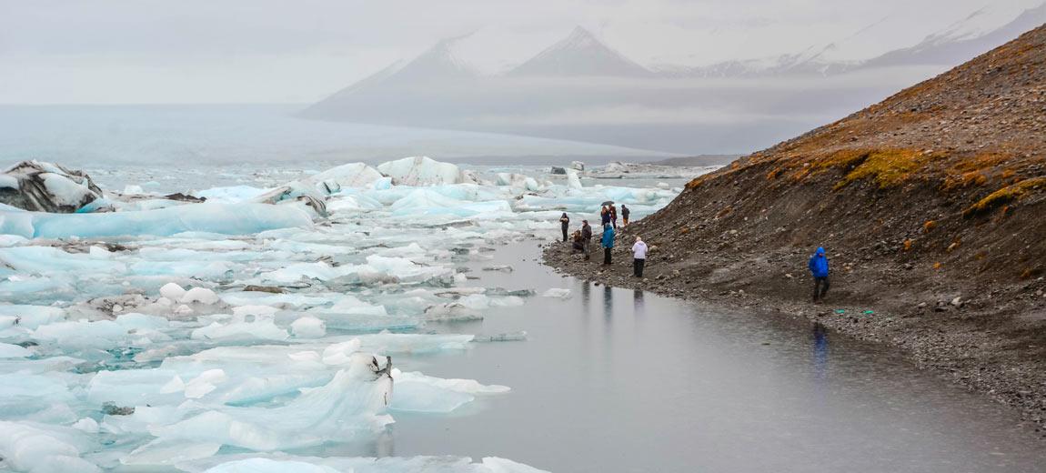 islandia jokulsarlon lago icebergs