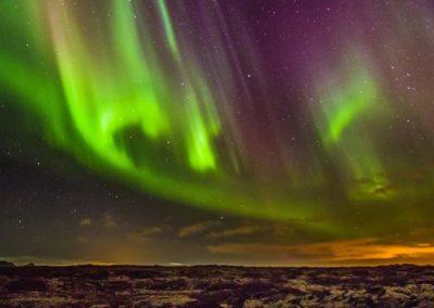 Auroas boreales en Islandia en Semana Santa