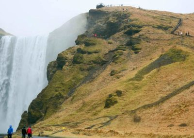 Casacada Skogafoss, Islandia en Semana Santa