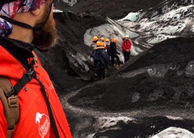 Trekking en glaciar con crampones