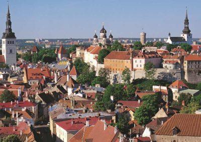 Edificios históricos en Vilnius o Vilna.