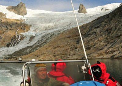 Glaciar al fondo del fiordo Tasermiut