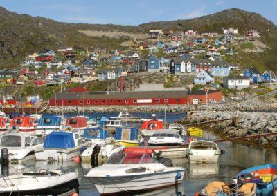 Qaqortoq, ciudad más grande del sur de Groenlandia.