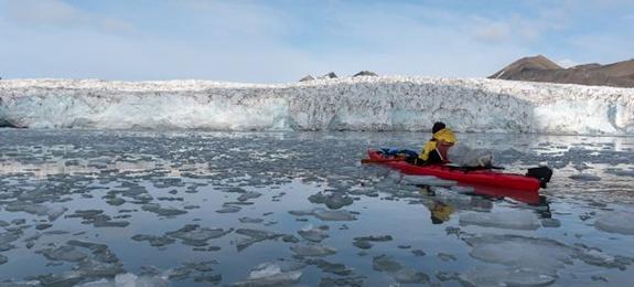 Kayak-Svalbard-Glaciares