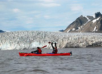 kayak glaciar Spitzberg