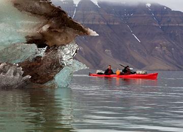Kayak glaciar Svalbard