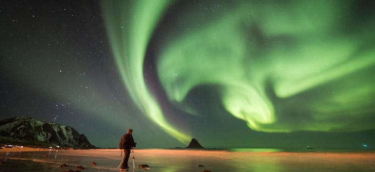 Viaje auroras boreales lofoten