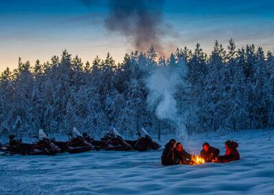 Motonieve Laponia Sueca