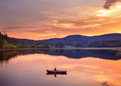 Laponia canoa naturaleza
